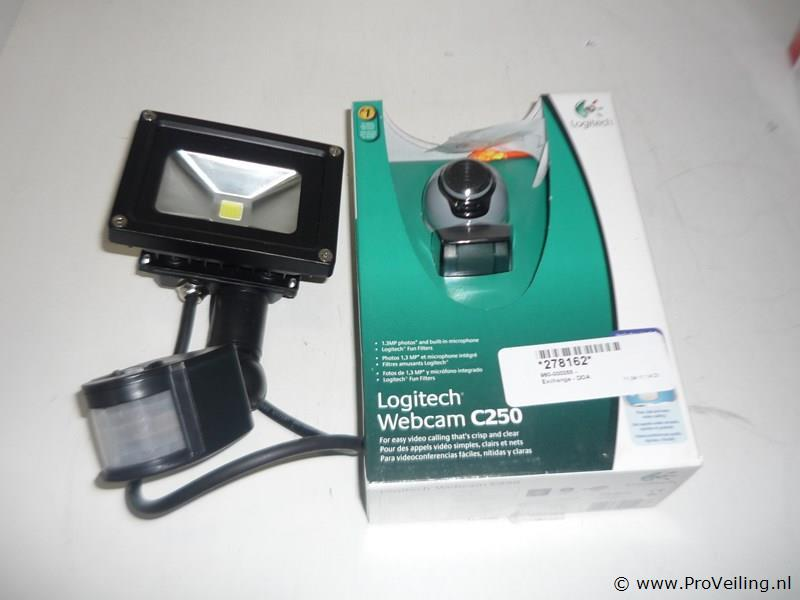Webcam + solar lamp