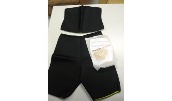 Slimming shorts, slimming belt en rugsteun