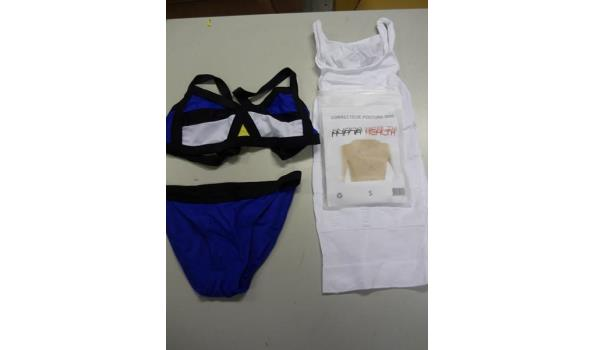 Bikini, slimming hemd en rugsteun