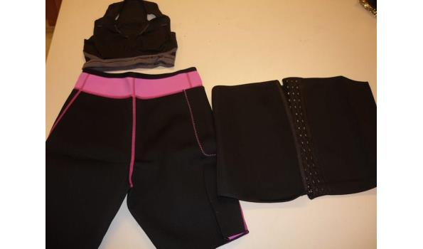 Slimming broek, belt en sports BH.