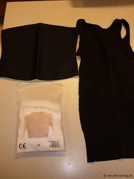 Slimming belt, slimming hemd en rugsteun