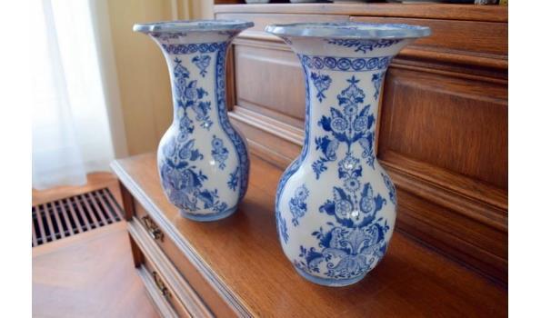 Delfts Blauwe Vazen.Twee Petrus Regout Delft Blauw Vazen Set Proveiling Nl