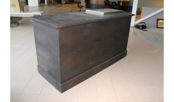 Verrijdbare bar met horeca koeling - 210x82x111,5