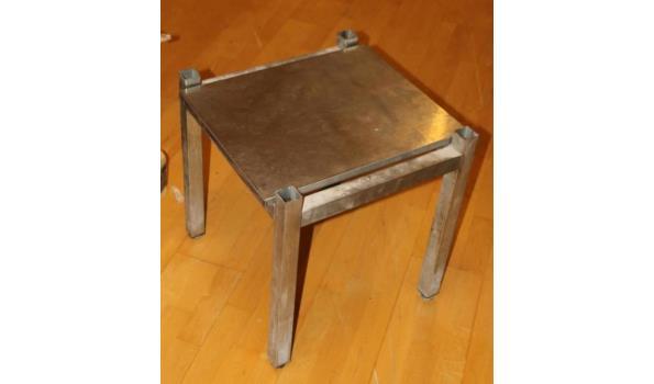 RVS tafel - 51x49x52cm.