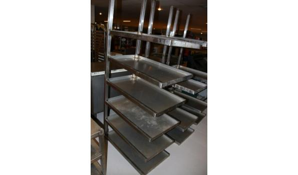 RVS wand-stelling - 90x49,5x200cm