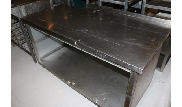 RVS werktafel - 160x80x94cm
