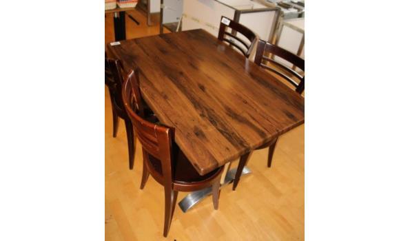 Tafel met 4 stoelen 80x120x74cm