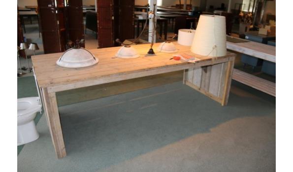 Steigerhouten tafel - 250x99x80cm.