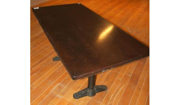 Tafel rechthoekig - 120x80x76cm.