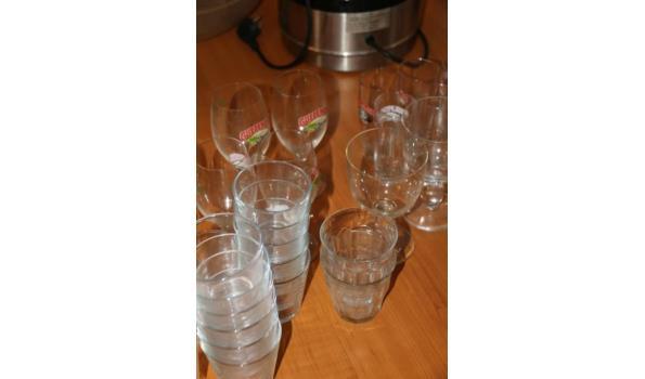 Divers glaswerk o.a. Gulpener bierglazen