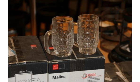 Partij glaswerk o.a. coca cola glazen en bierglazen