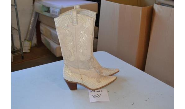 witte dames laarzen maat 38