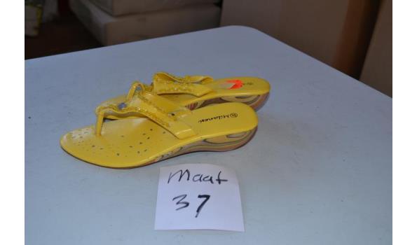 gele slippers maat 37