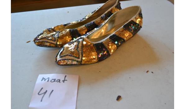 goud kleurige damesschoenen maat 41