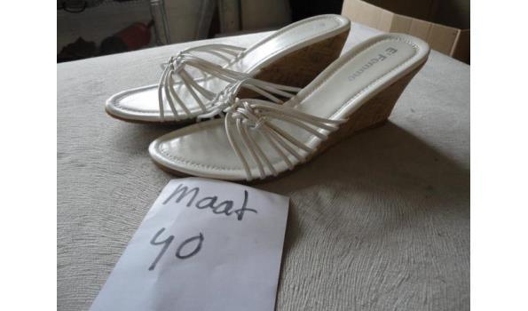 witte dames slippers maat 40