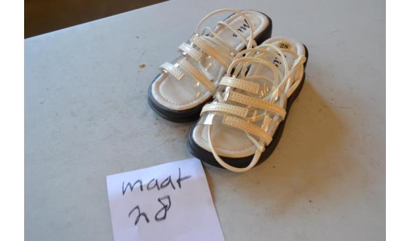 kinder sandalen wit maat 28