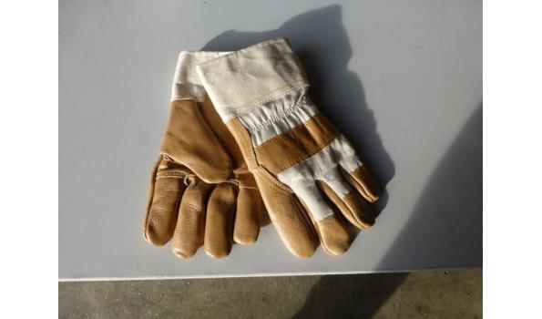 Leren gevoerde handschoen