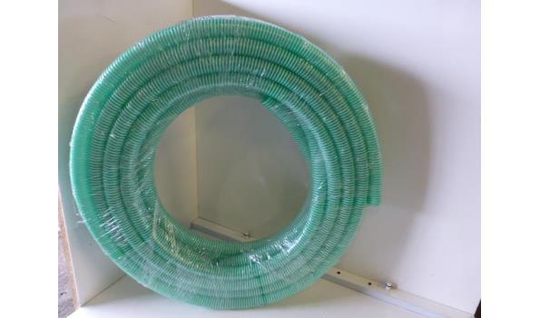 Zuig/persslang 32 mm inw groen-wite spiraal