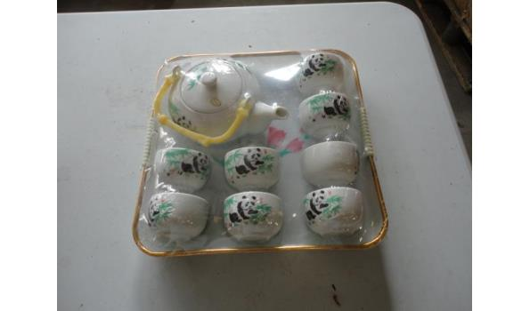 Chinese porseleinen panda kinderservies met dienblad