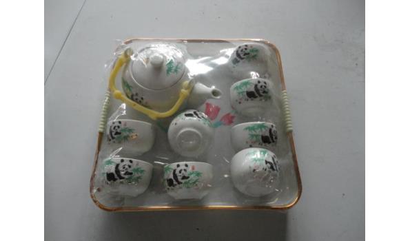 Chinese porseleinen panda kinderservies met dienblad
