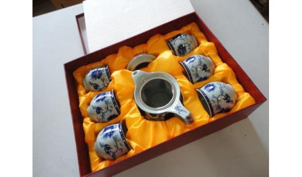 Chinese porseleinen theeservies in geschenkdoos