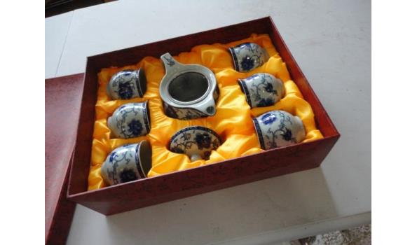 Chinese porseleinen theeservies in geschenkdoos