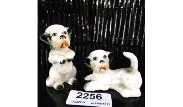 2 porseleinen honden