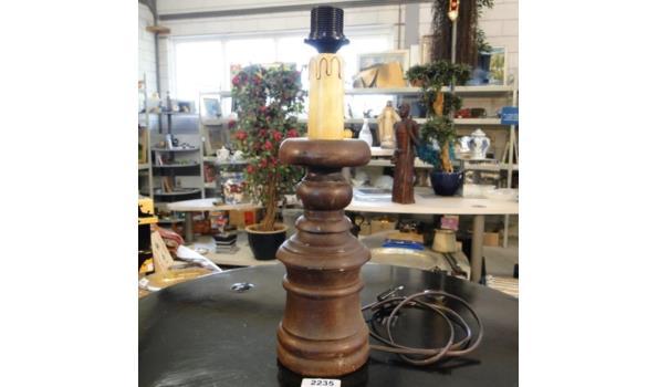 Massief houten lampvoet