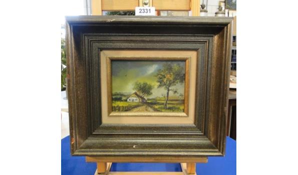 Olieverfschilderij op paneel