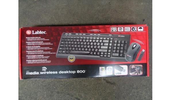 Labtec media draadloos desktop keyboard & muis