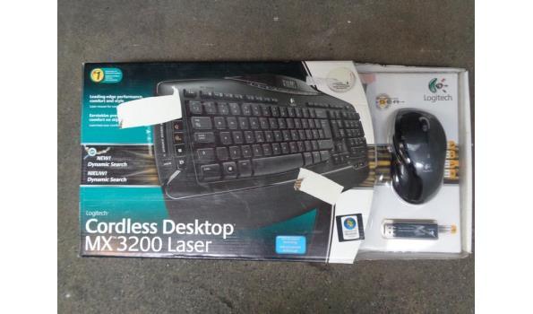 Logitech draadloos desktop keyboard & muis