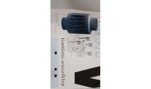 pijp voor cv/kachel ventilatie-wisselklep 7 stuks