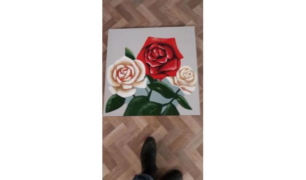 nieuwe rozen schilderij maat 80x80