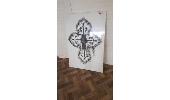 nieuwe grote kruis schilderij maat 119 hoog en 83 breed