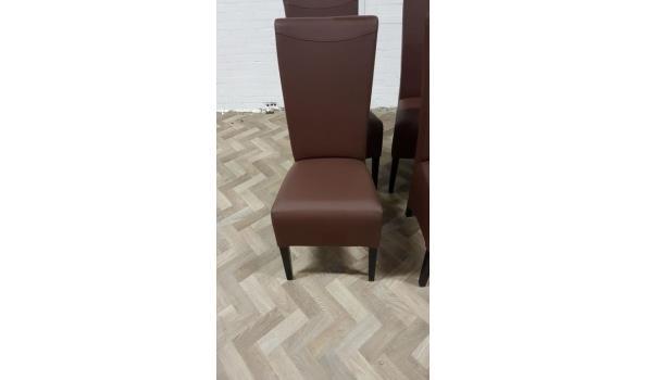 4 bruin eco leder stoelen