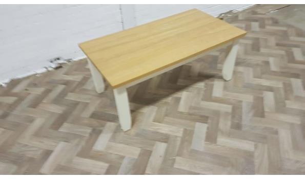 nieuw landelijke salontafel met eiken blad