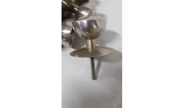 deurknoppen/klinken chroom 7 stuks