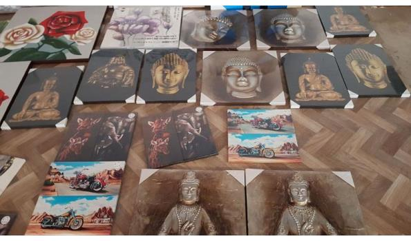 partij van circa 100 schilderijen schilderij