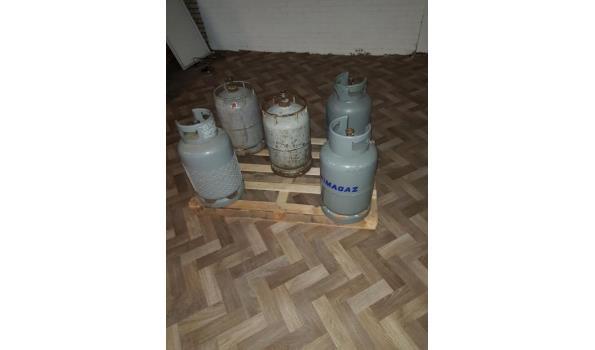 5x25 liter gasflessen leeg