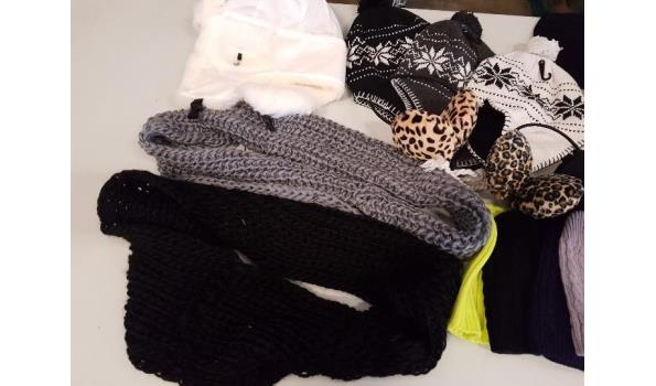 partij wintergoed mutsen,sjaals en handschoenen
