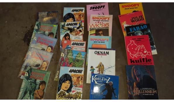 partij stripboeken circa 550 stuks