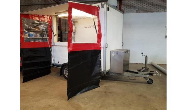 snack verkoopwagen met mover