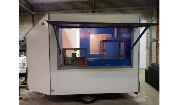 verkoopwagen met dubbele frituur