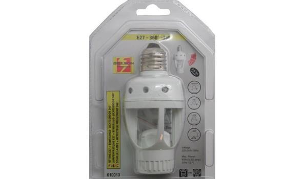 Fitting E 27 met beweging en lichtsensor