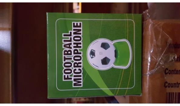 Voetbal microfoon in doosje 5 stuks