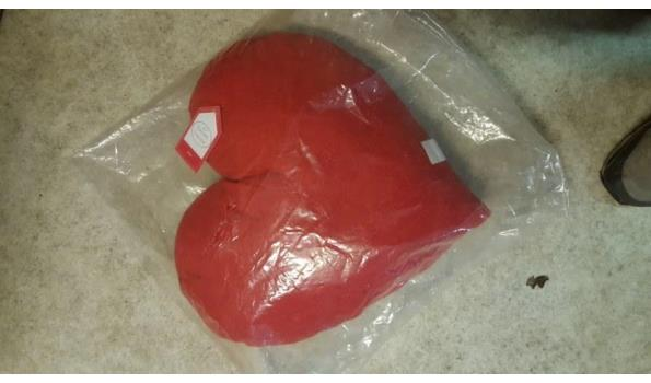 Kussen groot rood Hart model 1 stuks