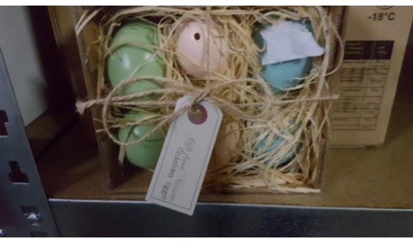 Set van lege eieren in doosje  6 sets