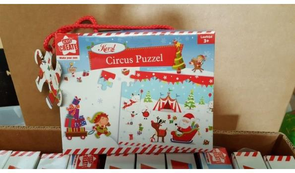 Partij puzzel circus 12 stuks