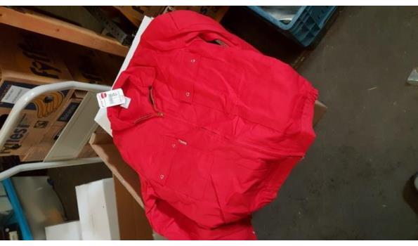 Havep werk jas rood maat 48  1 stuks