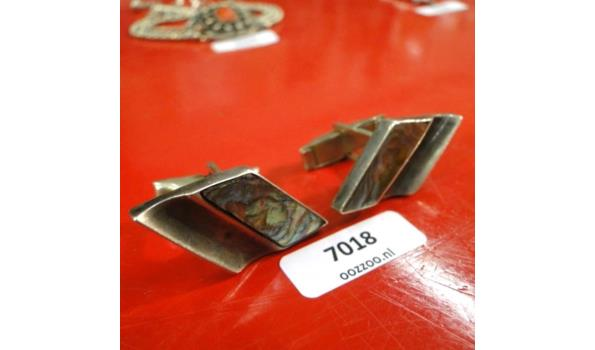 Zilveren manchetknopen met Abelone